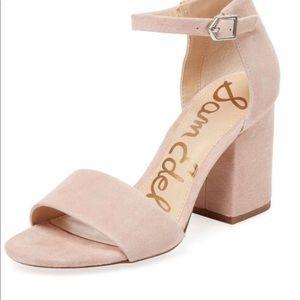 990f3a51b Sam Edelman 61 2 Tilly Block Heel Light Pink Suede